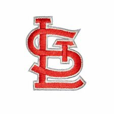 "RED/W St Louis Cardinals 2.25"" Baseball MLB Iron On Patch Embroidered Team Logo"