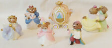 Hallmark Merry Miniatures Cinderella Collection Set of 6 with Gold Stickers