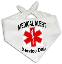 Medical Alert Service Dog - Dog Bandana One Size Fits Most Animal Assistance