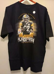 2008 NFL Defefensive Player Of The Year James Harrison Steelers T Shirt Size L