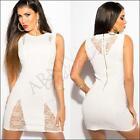 NEW SEXY SLEEVELESS lacy MINI DRESS sz XS S M STRETCH BODYCON DRESSES PARTY CLUB
