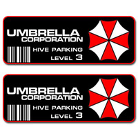 Umbrella Corporation Hive Parking Level 3 Resident Evil Vinyl Sticker Car Decal