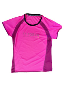 """FZ FORZA Ladies Activewear Badminton Short Sleeved Shirt Pit to Pit 19"""""""