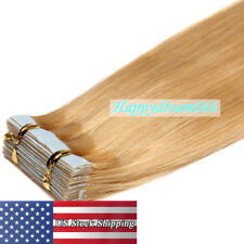 Reusable Seamless Super Tape in Skin Weft Real Remy Human Hair Extensions 7A US