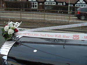 Personalised Car Ribbon Weddings Proms All Occasions - 6 metres + 3 Pull Bows