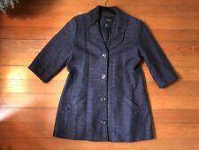 Spanner Women's Blue Blazer Jacket Coat Lined W/ Pockets Button Down Size 12