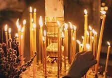 Candles bees wax 100pcs. Orthodox church. Nice smell. #120