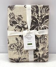 """NEW Pottery Barn Thea Print QUEEN Bed Skirt w/14"""" Drop~Gray Multi"""
