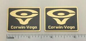 Cerwin Vega D9 Speaker Badge Logo Emblem Custom Made Gold Aluminum Free Ship