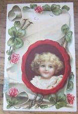 Cartolina d'epoca in rilievo Bambini- 1906 - postcard - tarjeta -