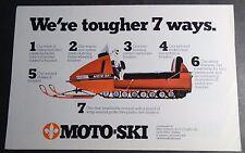 VINTAGE 1971 MOTO-SKI SNOWMOBILE SALES BROCHURE  (722)