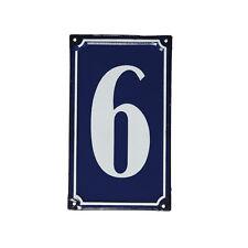 dotcomgiftshop 6 FRENCH BLUE METAL DOOR SIGN