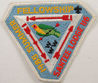 OA Lodge 116 Santee eX1985-2. Fdl; Summer Fellowship [D1735]