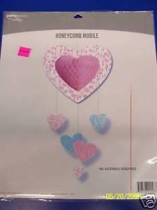 Pink &Aqua Bridal Shower Wedding Party Honeycomb Mobile
