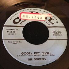 Goofers Goofy Dry Bones / Nare 1957 Novelty Vocal Group Parody on Coral