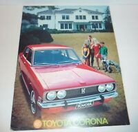Toyota  Brochure  -  Corona Catalog 1970 Sales All Original  See Photos