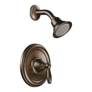 NEW Moen Brantford Shower Trim Kit Oil Rubbed Bronze Showerhead-w/extra handle