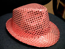 DAZZLING PINK SEQUINED HAT - Great For Halloween!