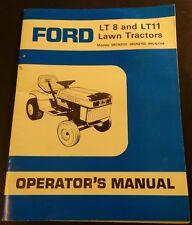 FORD LT 8 & LT 11 LAWN TRACTORS OPERATORS MANUAL P/N 240981 (443)
