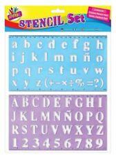 2 x Large Lettering Stencil Set Upper Lower Case Number Alphabet Stencils Kids