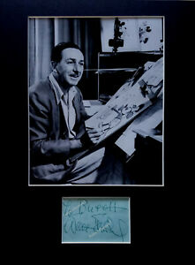 AUTHENTIC WALT DISNEY AUTOGRAPH signed 1958 Dorchester Hotel London England