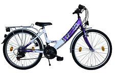 Damenfahrrad 26 Zoll Fahrrad Delta Harmonia SHIMANO 18 Gang STVZO Lila/Weiss