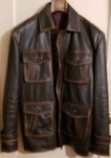 Supernatural Season 7 Leather Jacket Dean Winchester Distressed Brown Coat XL