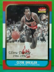 Clyde Drexler insert card Decade Of Excellence 1996-97 Fleer Ultra #U-1