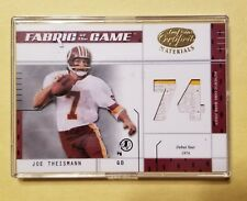 2003 Leaf Certified Gold AuthenticGame Used 2 Color JerseyJoe Theismann HOF
