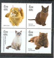 Ireland-Cats set of 4 issued 2014 mnh