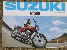 Genuine Suzuki GT500 sales brochure