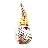 Authentic Brighton ABC Idaho Charm, J91352 Silver and Gold Finish, New