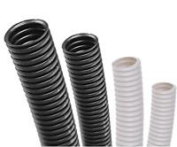 Conduit Non-Split Black & White Flexible Cable Tidy Tube Trunking PE