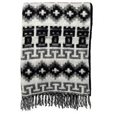 #226 Black Peruvian Wholesale Price Soft Blanket Throw Warm Brushed Alpaca Blend