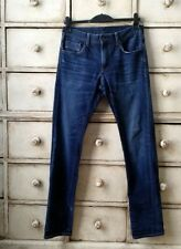 UniQlo Jeans Indigo Blue Straight Slim With Stretch 31 Waist 33 Leg