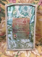 Set Of 2 - Poetic Wanderlust CHLOE Quilted STANDARD SHAMS Cotton TURQUOISE PRINT