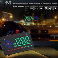 """3.5"""" Car HUD A2 Head Up Display Digital Overspeed Alarm Speedometer Dashboard"""