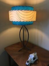 Mid Century Vintage Style 3 Tier Fiberglass Lamp Shade Atomic  Teal