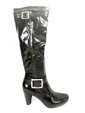 Franco Sarto Knee High Boots Womens Size 7 Black Heels Pumps Shoes Size Zipper