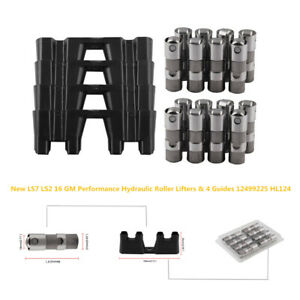 Durable LS7 LS2 16 GM Performance Hydraulic Roller Lifter&4Guides 12499225 HL124