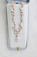 Swarovski Crystal Bridal Necklace Rose Gold