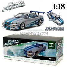 GREENLIGHT 19029 BRIAN'S 1999 NISSAN SKYLINE GT-R R34 DIECAST CAR 1:18 NEW!