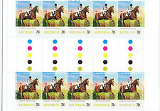 2014 - Australia - Equestrian Events - Cross Country - gutter strip of 10 - MNH