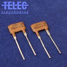 2 PCS. Lemco Silver Mica Capacitor 200pF / 2% / 500V