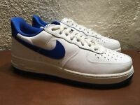 Nike Air Force 1 Low Retro 845053 102 Summit White Game Royal Mens size 8.5 NEW