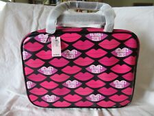 VICTORIA'S SECRET LIPS JETSETTER TRAVEL CASE BAG ZIP HANGING NWT COSMETIC MAKEUP