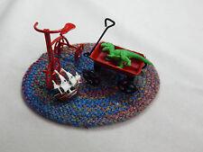 Dollhouse Miniature 1: 12 Scale Boy Bike Tricycle & Toys  #Z86B