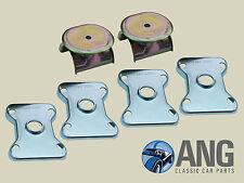 MGB ROADSTER '62-' 66 arrière lame ressort piédestal & selle PLAQUETTES Kit (