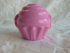 TUPPERWARE PINK CUPCAKE MUFFIN KEEPER HOLDER #6398 FORGET ME NOT STORAGE CONTAIN