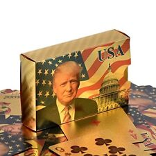 Donald Trump Playing Cards - 24K Gold Plated Commemorative Collectors Edition.